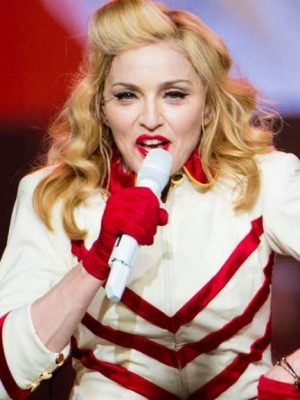 PHILADELPHIA, PA - AUGUST 28: Madonna performs at the MDNA North America Tour Opener at the Wells Fargo Center August 28, 2012 in Philadelphia, Pennsylvania. (Photo by Jeff Fusco/Getty Images)