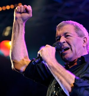 Ian Gillan, singer of British Rockband Deep Purple, performs on the main stage during the Caribana Openair Festival, in Crans-sur-Nyon, Western Switzerland, Wednesday, June 9, 2010. (AP Photo/Keystone/Martial Trezzini)